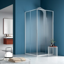RUN - 1 SLIDING DOOR WITH INLINE PANEL ON EACH SIDE