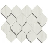 AtlasConcorde_MarvelStone_BiancoDolomite_MosaicoEsagono3D_28.2x35.3_AS36