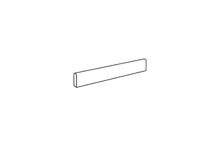 WHITE BATTISCOPA LAPPATO
